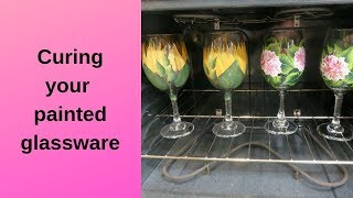 How To Cure Your Glass Paint | Permanent Glass Paint | Aressa | 2019
