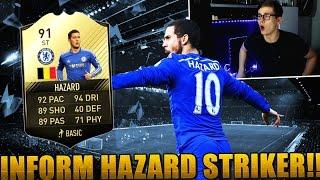FIFA 17: OMG 91 INFORM EDEN HAZARD STRIKER! 😱 (DEUTSCH) - ULTIMATE TEAM - BEAST FUT DRAFT!
