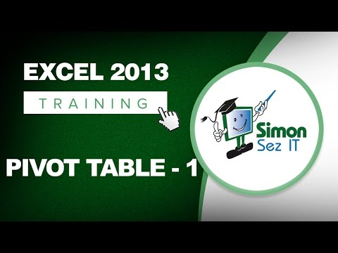 Working with Pivot Tables in Excel 2013 – Part 1 – Learn Excel Training Tutorial