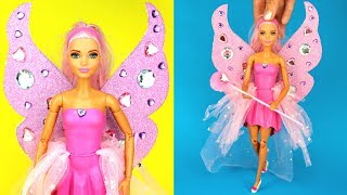 🧚 DIY Barbie Fairy Costume for Halloween Making Easy No Sew Clothes for Barbies