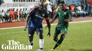 George Weah leads Liberia in politics and on the pitch at the age of 51
