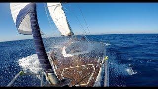 Море яхта паруса. Родос - Крит