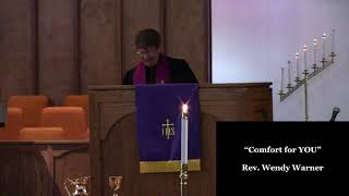 """Comfort for YOU!""; Scripture Readings: Matthew 5:1-4 and Revelation 21:3-4; Rev. Wendy Wa"