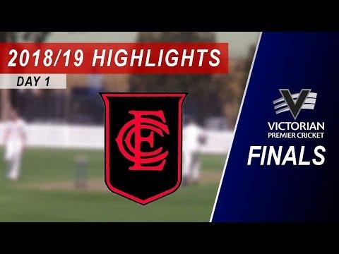 2018/19 Semi Final vs Essendon 2nd XI: Day 1 Highlights