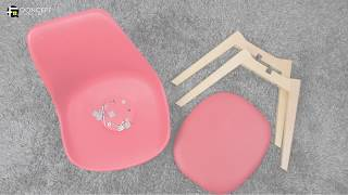 Qoncept Furniture: HATHOR Eames Style Chair - Assembly Guide
