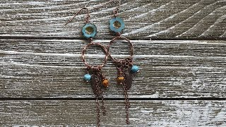 How To Make The Boho Chic Earrings - DIY Earring Tutorial