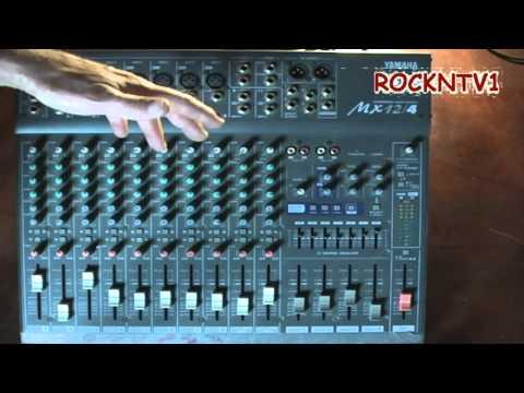 mixing console yamaha mx12/4