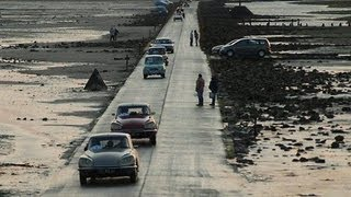 Le Passage du Gois en voiture sur l'île de Noirmoutier