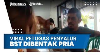 Viral Petugas Penyalur BST Nangis Dibentak dan Dimarahi Seorang Pria yang Tak Membawa Berkas