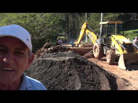 Prefeito Ayres Scorsatto fala sobre a obra realizada na Represa do Calazan