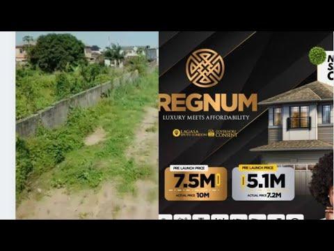 Residential Land for sale Regnum Estate, Eputu London, 2mins Drive From Lekki Epe Expressway. Lekki Lagos