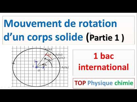 rotation d'un corps solide indeformable autour d'un axe fixe  1bac  (partie 2)