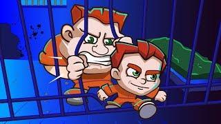Побег из тюрьмы Money Movers #1 Убегаем от охранников в мультяшной игре Игра на двоих Мультик