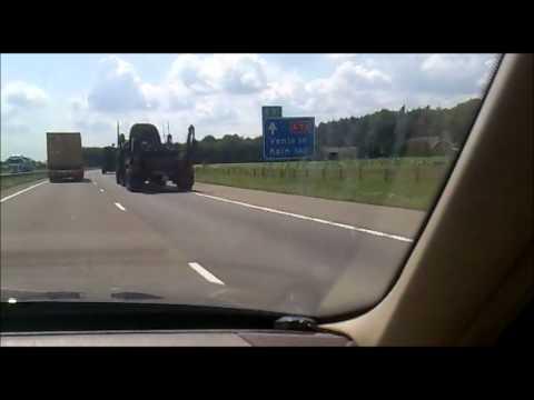 Militair konvooi A73 Nijmegen - Cuijk