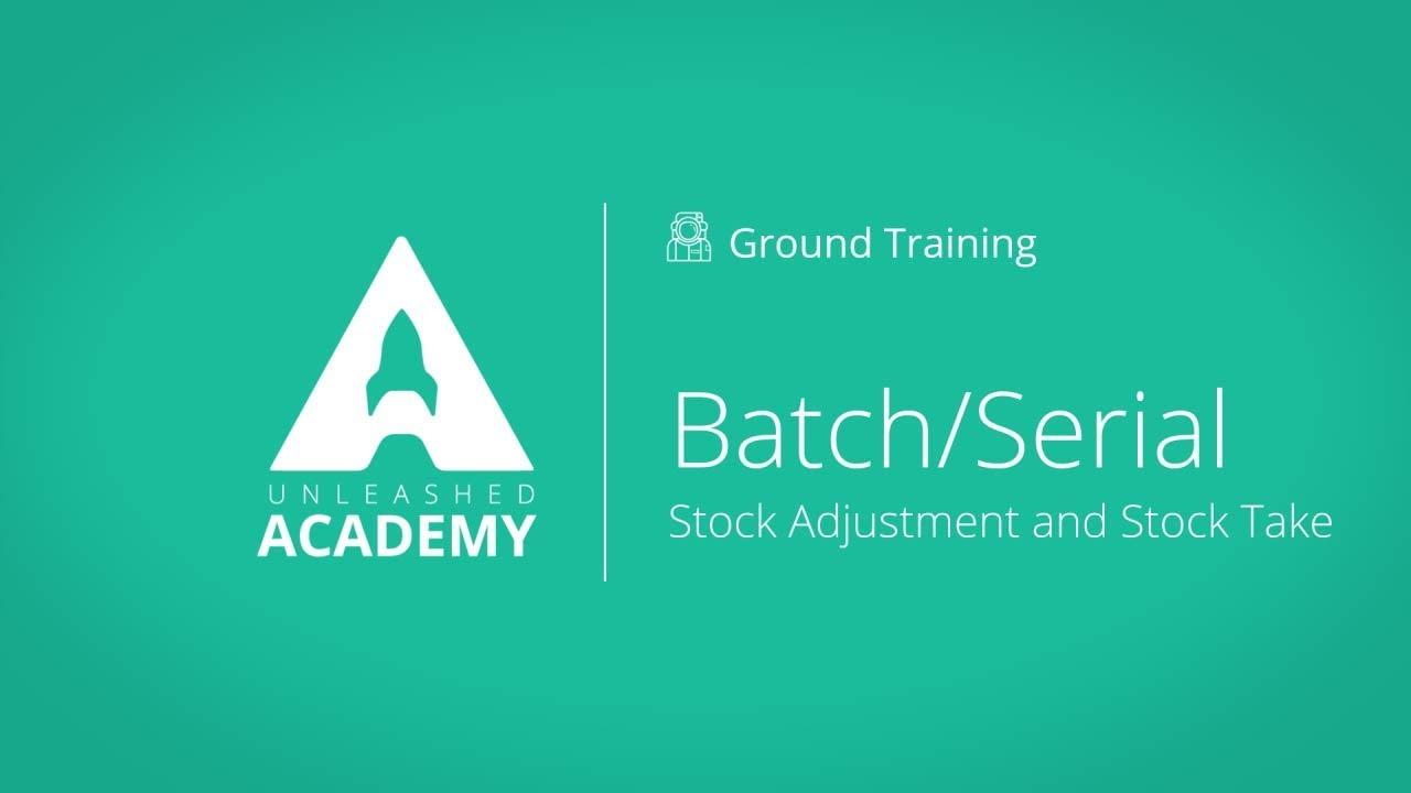 Batch/Serial: Stock Adjustment & Stock Take YouTube thumbnail image