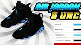 NBA 2K18 SHOE CREATOR TUTORIAL HOW TO MAKE AIR JORDAN 6 UNC BEST RETROS