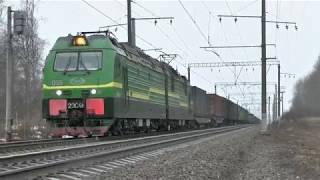 Электровоз 2ЭС4к-059 с грузовым