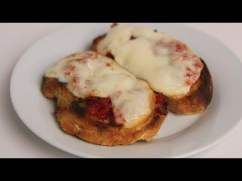 Sun Dried Tomato & Smoked Mozzarella Bruschetta Recipe – Laura Vitale – Laura in the Kitchen Ep 384
