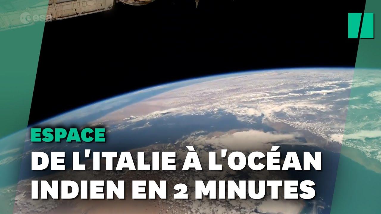 Thomas Pesquet nous fait faire le tour de la Terre depuis l'ISS et c'est magnifique