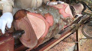 Amazing WoodTurning Project // Fastest Skills Woodworking With Wood Lathe Machine