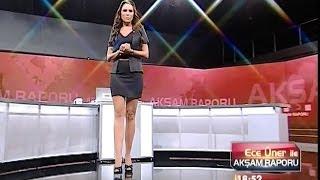 Ece Üner Beautiful Turkish Tv Presenter 16.10.2012