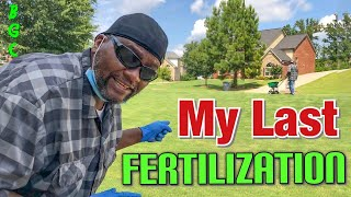 Last Fertilization of the season for lawns / is it too late to apply fertilizer / Fertilize schedule