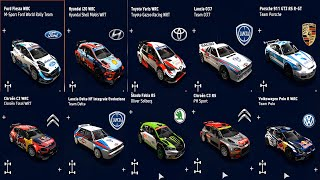 WRC 9 FIA World Rally Championship - All Cars | List (PC HD) [1080p60FPS]
