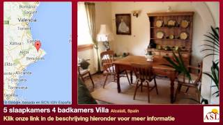 preview picture of video '5 slaapkamers 4 badkamers Villa te Koop in Alcalali, Spain'