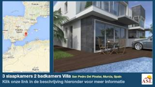 preview picture of video '3 slaapkamers 2 badkamers Villa te Koop in San Pedro Del Pinatar, Murcia, Spain'