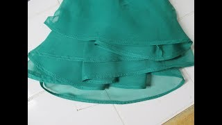 Hemming A Chiffon Prom Dress