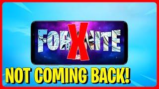 *NEW* Fortnite Mobile NOT COMING BACK? (HUGE NEWS) | Fortnite Mobile Season 4 Chapter 2 IOS Update
