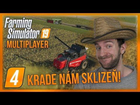 KRADE NÁM SKLIZEŇ!   Farming Simulator 19 Multiplayer #04