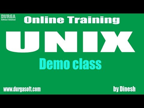 Learn UNIX Online Training Demo On 27-03-2018 by Dinesh sir
