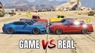 GTA 5 ONLINE   GTA 5 CARS VS REAL LIFE CARS PART #05 (WHICH IS FASTEST?)