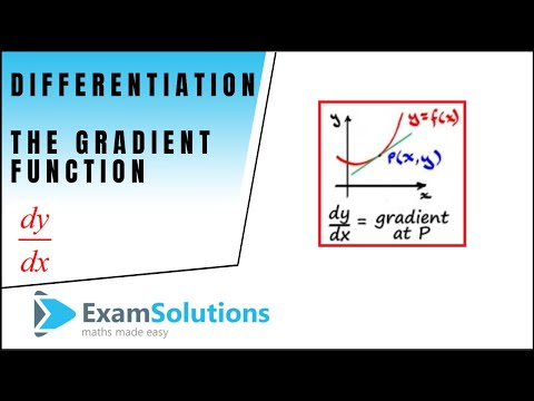 Differentiation : The gradient function dy/dx : ExamSolutions