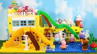Peppa Pig House Construction Sets - Lego Duplo House With Water Slide Creations Toys For Kids #8