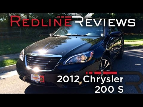 2012 Chrysler 200 S Review, Walkaround, Exhaust, & Test Drive
