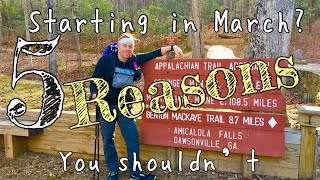 Why you should NOT start your thru hike in March | Appalachian Trail