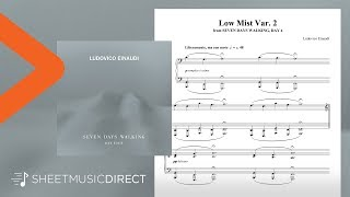 Low Mist Var. 2 Sheet Music   Ludovico Einaudi   Piano Solo (Seven Days Walking: Day 4)