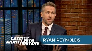 """Ryan Reynolds Played """"Let's Get It On"""" While Blake Lively Was in Labor - Late Night with Seth Meyers"""