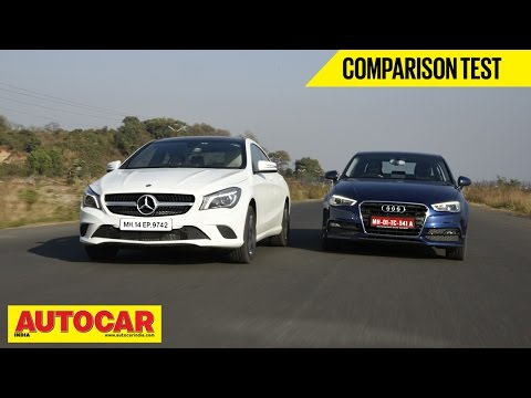 Mercedes Benz CLA-Class vs Audi A3 | Comparison Test | Autocar India - Mercedes-Benz Videos