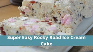 Rocky Road Ice Cream Cake