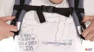 """Эрго-рюкзак Love & Carry. Инструкция: позиция """"на спине"""""""