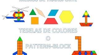APRENDEMOS LOS MEDIOS DE TRANSPORTE CON PATTERN BLOCKS