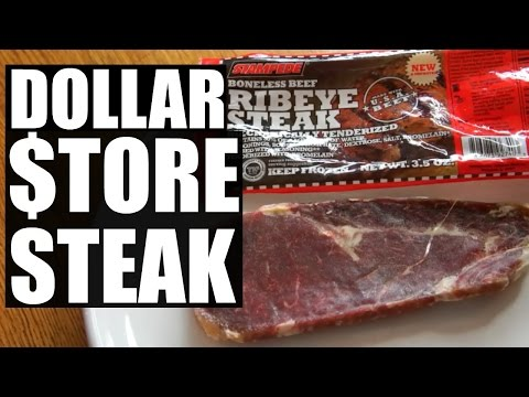 DOLLAR $TORE STEAK | $1 Ribeye Taste Test