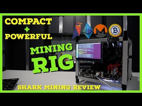 The Most Compact + Powerful GPU Miner – Shark Mining 4x 1080 TI Mining Rig | 200+ Mh/s