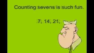 Multiply by 7 in Minutes with Powerdot Multiplication skip counting songs!  www.PowerdotMath.com