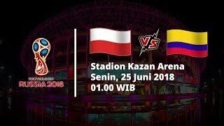 Jadwal Live Trans TV Pertandingan Piala Dunia 2018 Polandia vs Kolombia Pukul 01.00 WIB