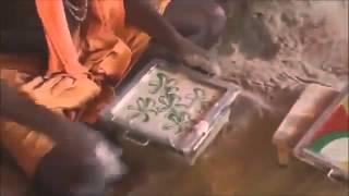 Изготовление плитки в Индии традиционным способом