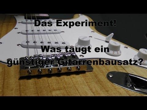 Das Experiment! - Was taugt ein günstiger Gitarrenbausatz?